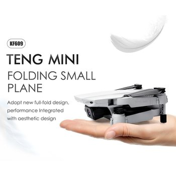 цена на KF609 4K HD Camera RC Mini Foldable Drone with WIFI FPV Selfie Optical Flow Stable Height Fly Quadcopter RC Helicopter Toy