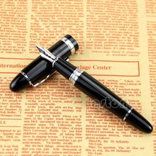 купить New Jinhao 159 Black And Silver M Nib Fountain Pen Thick X6HB дешево