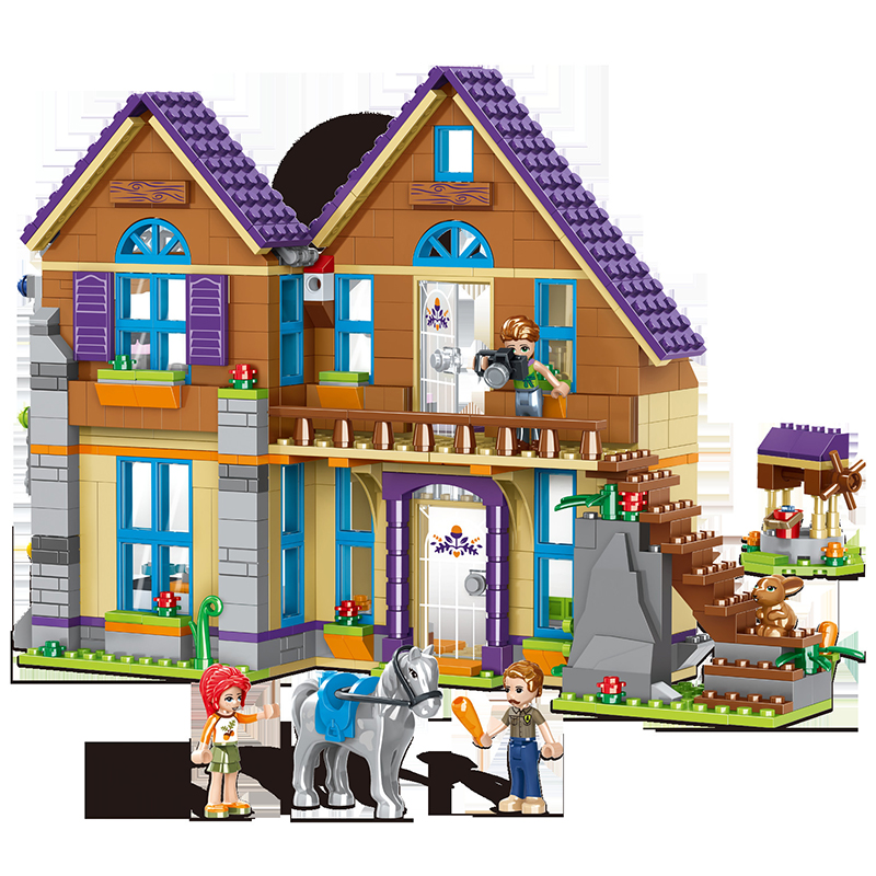 Mia House Girl Friends 796PCS Villa Building Block Creative Compatible 41369 Building Construction Assemble Toy Gift