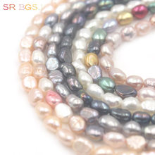 Free Shipping 5x7mm Mini Small Freeform Baroque Freshwater Natural Pearl Bail Spacer Seed Beads Strand 15