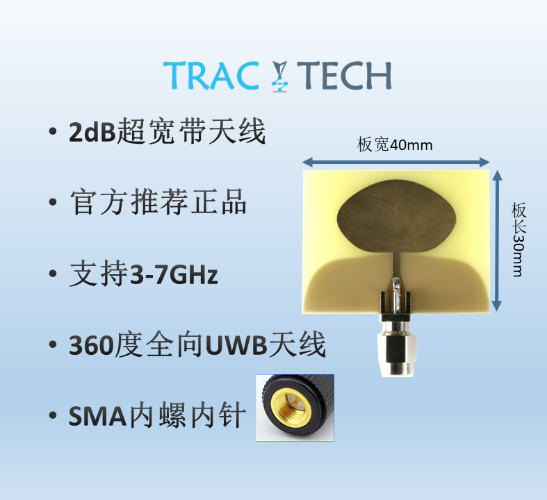 3.5GHz-6.5GHz High Gain Ultra-Wideband UWB Omnidirectional Antenna Decawave S2F2