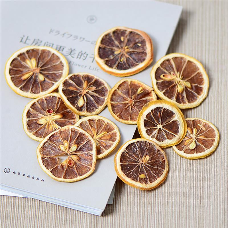 1 Pack Dried Lemon Slice Multipurpose Natural Dried Fruit For DIY Crafts Soap Making Manual DIY Material Accessories