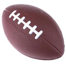 Мини Мягкий из искусственной кожи коричневый антистресс Регби Футбол Squeeze Ball