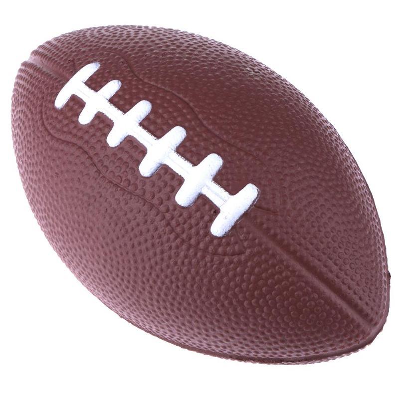 Mini Soft PU Foam Material Brown Anti-stress Rugby Soccer Squeeze Ball