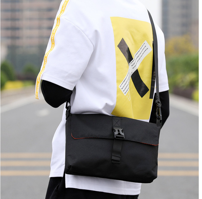 Simple All-match Men Leisure Briefcase Inside Outside Dual Use Shoulder Work Bag Mens Fashionable Cloth Bags Bolso Hombre DF350