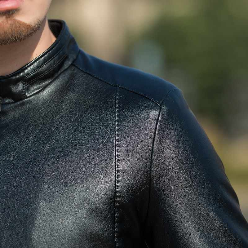 Nieuwe Hoge Kwaliteit 8XL 7XL 6XL Plus Size Mannen Leren Jas Echt Echte Huid Merk Zwarte Mannelijke Bomber Motorcycle Biker man Jas