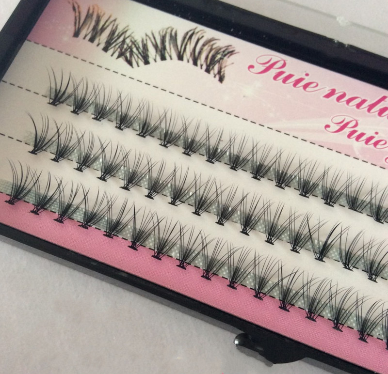 Fashion 60pcs Professional Makeup Individual Cluster Eye Lashes Grafting Fake False Eyelashes Free Shipping Cosmetic Tools