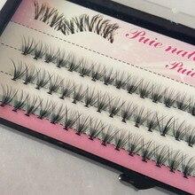60 piezas de maquillaje profesional de moda, pestañas individuales de racimo, injerto de pestañas postizas, envío gratis, herramientas cosméticas