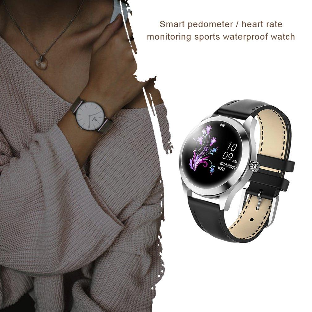 IP68 Водонепроницаемый смарт-часы для женщин прекрасный браслет пульсометр мониторинг сна часы для iOS KW10 подключения Андроида диапазона