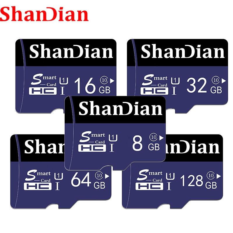 ShanDian Original Micro Sd Card 64GB 32GB 16GB 8GB SDXC SDHC Memory Card MicroSDXC MicroSDHC Class10 Class 6 Microsd TF Card