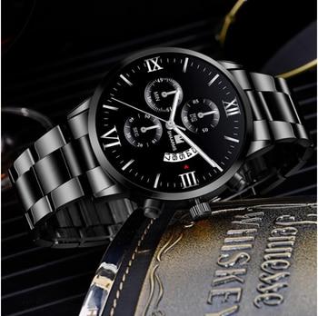 2020 Hot Fashion Mens Watches Luxury Brand Quartz Watch Stainless Steel Men Sport Wristwatches Male Clock Relogio Masculino 2
