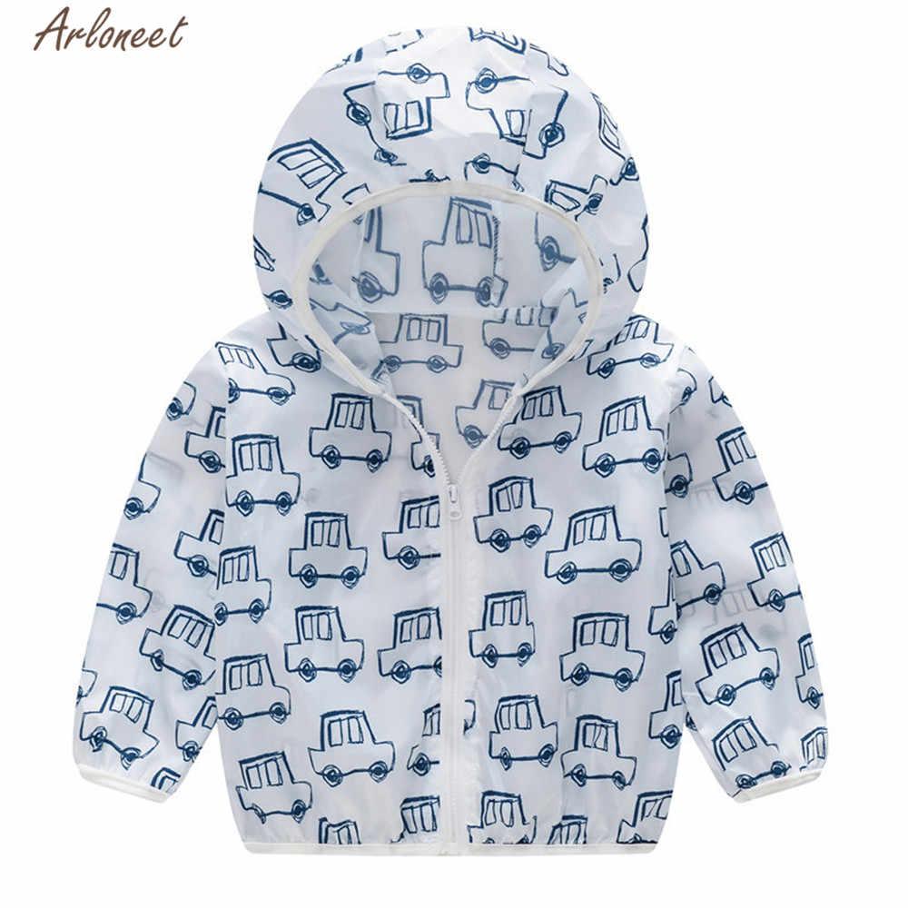 ARLONEET ילדים בגדי סתיו חורף תינוק בנות בני קרם הגנה ברדס מעיל ילדי רוכסן פוליאסטר ארוך שרוול מעילים