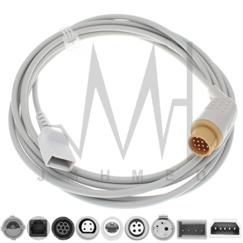 Compatible with 12pin Kontron Monitor IBP Cable and Argon Philips BD Edward Medex Abbott Smith PVB Utah Pressure Transducers image