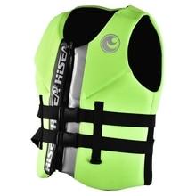 NEW-HISEA спасательный жилет из хлопка EPE спасательный жилет для взрослых спасательный жилет для плавания спасательный жилет для выживания зеленый XL
