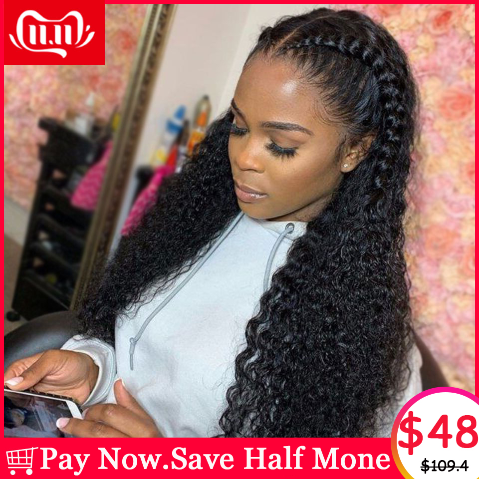 Curly 13x6 Lace Front Human Hair Wigs For Women Pre Plucked Hairline With Baby Hair Brazilian Remy Natural Color Lace Front Wig