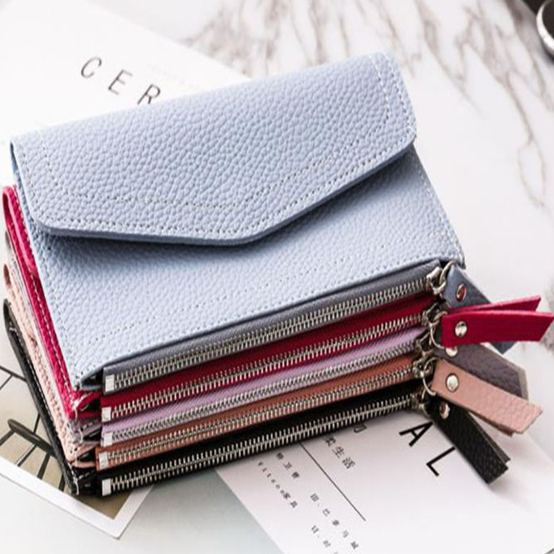 New Long Wallet Coin Purse Women Fashion Artificial Leather Wallet Female Casual Purse Zipper Clutch Purse Lady Long Handbag Bag in Wallets from Luggage Bags