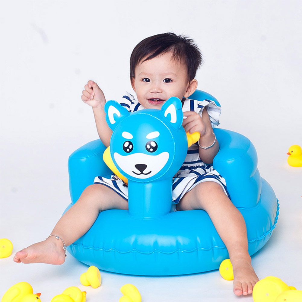 Peacock Infant Small Inflatable Sofa Seat Baby Dining Chair Shower Stool Inflatable Toy PVC Inflatable Sofa For Kids Gift