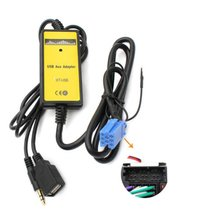 Car CD MP3 USB Interface Adapter AUX In Input for A2 A4 A6 S6 A8 TT S4 S8 with Mini ISO 8P blue connector Top Sale