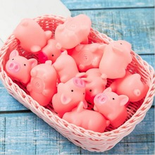 3/5pcs  cute Pet Dog Toys pink Screaming Rubber pig toys Squeak Squeaker Chew Gift home decorations