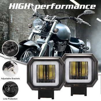 1PCS 3 Inch 40W Waterproof Square LED Work Light Off-road Vehicle Boat Led Driving Lamp Motorcycle Light image