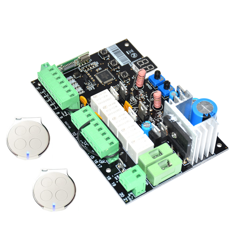 12V 24V DC In One Mother Board/ Control Board Panel Of Automatic Swing Gate Opener With Key /transmitter