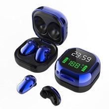 S6 Plus Tws prawdziwy bezprzewodowy zestaw słuchawkowy Bluetooth 5.1 LED 9D Stereo z mikrofonem zestaw głośnomówiący muzyka słuchawki douszne dla Xiaomi iPhone