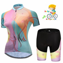2019 new Kids  Cycling Jersey Set for Short Sleeve Suit Child Bike Wear Ropa Cilismo Bicycle Clothing Girls