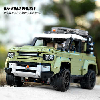93018 Technic Car Model Compatible 13175 Lands Rover Defender Technic SUV Car Toys Kids Christmas Gifts Building Blocks