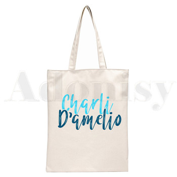 Ice Coffee Splatter Charli DAmelio Ulzzang Print Reusable Shopping Women Canvas Tote Bags Eco Shopper Shoulder Bags 8