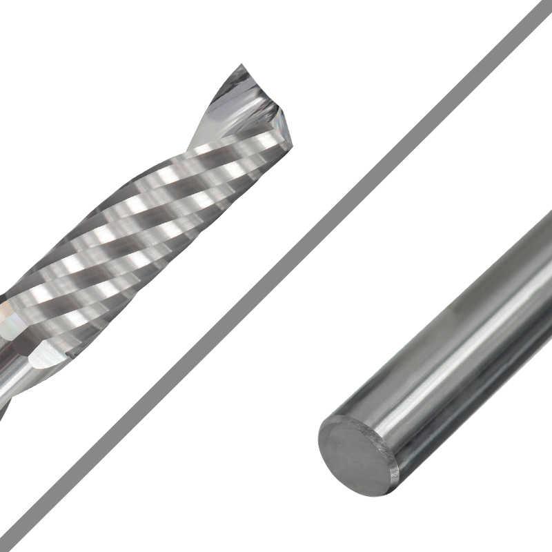 Xcan único flauta fresa de alumínio 3.175mm haste espiral fresa carboneto cnc roteador bit