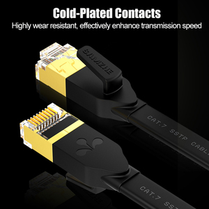 Image 4 - SAMZHE Cat7 SSTP Flat Cable Ethernet Patch Cable for RJ45 Computer Networking Cable Connection 1/1.5/2/3/5/8/10/15/20/25/30m