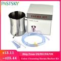 2l não-tóxico enema balde kit de limpeza do cólon de aço inoxidável reutilizável grau médico tubo de silicone desintoxicação café higiene feminina