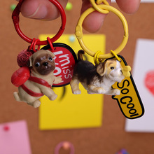 2020 Hot New The Mini Resin Animals Key Chain Cute Fashion Cat Piggy Keychain Soft Stuffed Toys Keyring puppy Chains