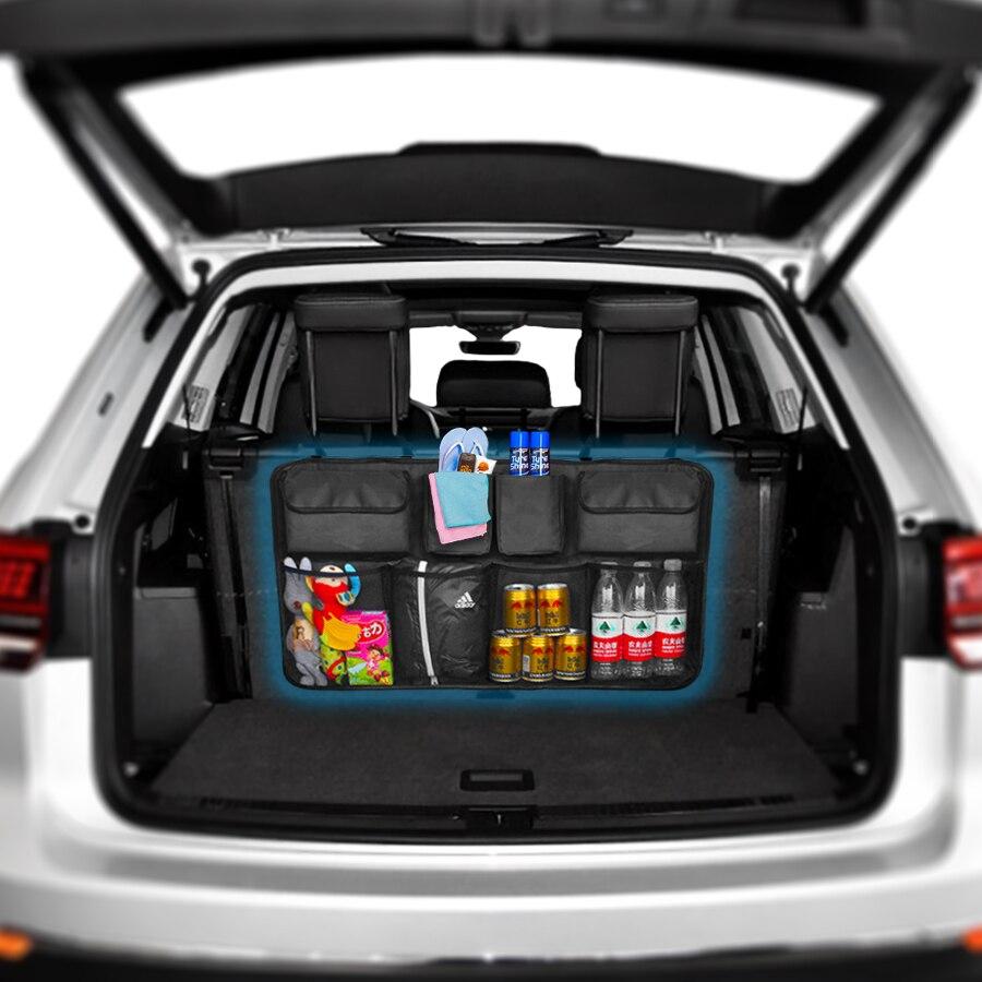 Органайзер для багажника автомобиля, сумка для хранения на заднем сидении, высокая емкость, регулируемая, авто сиденье на заднем сидении, ткань Оксфорд, универсальные многофункциональные Органайзеры|Все для уборки|   | АлиЭкспресс