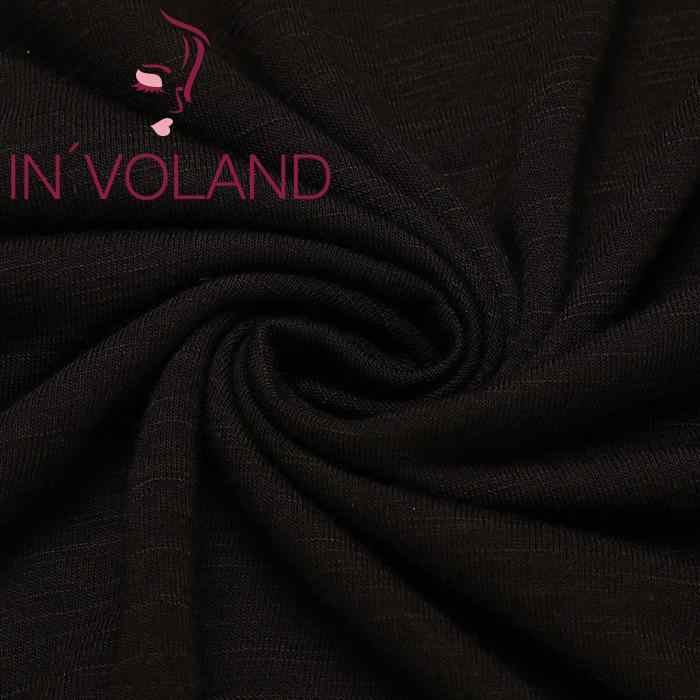 Wanita Kasual Musim Semi Musim Gugur Kapas Leher V Lengan Panjang Solid Asimetris Hem Longgar Seksi Atasan
