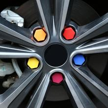 20Pcs/Set 21mm Silicone Hollow Hexagonal Wheel Hub Screw Cover Car Styling Bolt Nut Caps Tires Decoration Colorful High Quality