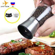 Pepper Grinder 2 in 1 Stainless Steel Manual Salt and Pepper Mill Grinder Spice Shakers Kitchen Tools Accessories for Cooking