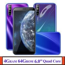 Na całym świecie telefonów komórkowych z systemem Android 9C 4G RAM 64G ROM czterordzeniowy smartfon 13mp Face ID odblokowany Celulares WCDMA WIFI 2SIM 6.0 Cal