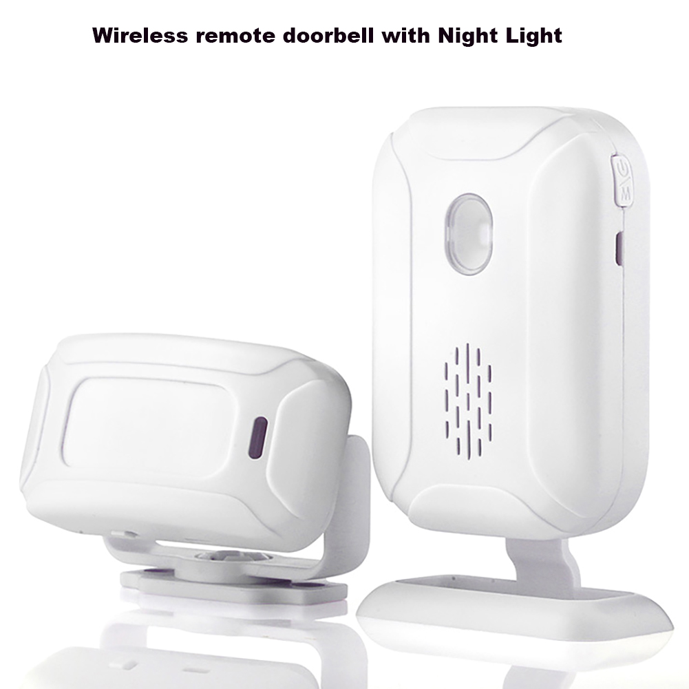 Wireless Doorbell Welcome IR Infrared Motion Sensor Alarm Range Home Shop Door Bell Magnetic Chime Night Light Deaf