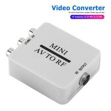 Mini RCA AV CVSB na RF konwerter adaptera wideo HD konwerter wideo 67 25 61 25MHz AV na RF skaler TV Switcher tanie tanio ALLOYSEED NONE CN (pochodzenie) Męski-żeński 6x5 3x2 1 Video Converter Box Mini RCA AV CVSB to RF Video Adapter Converter