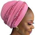 Модный витой тюрбан шапки для женщин ручной работы в африканском стиле Auto Gele головной убор Однотонный женский головной платок мусульмански...