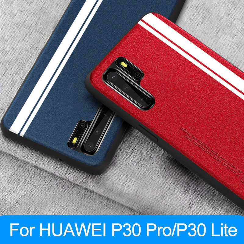 for HUAWEI P30 Pro Case Cover Fashion Leather Soft Edge Protection Shockproof Back Case for HUAWEI P30 Lite P30 Pro Phone Cover