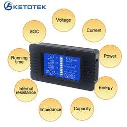 DC woltomierz amperomierz 0 200V 10A/50A/100A/200A/300A miernik mocy energii impedancja pojemność czas pracy SOC Monitor Mierniki napięcia    -