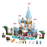 Princesa cinderela elsa anna sereia ariel castelo blocos de construção figura menina compatível com legoinglys amigos tijolos brinquedos
