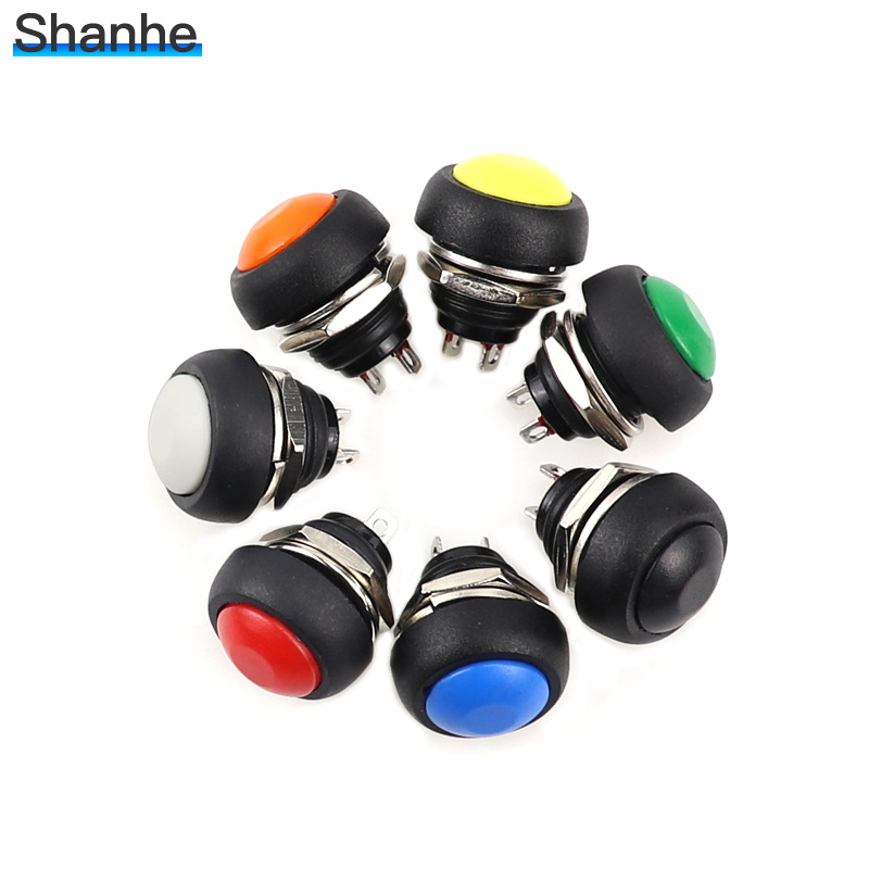 10pcs Red 12mm Waterproof momentary Push button Mini Round Switch 1A 250V