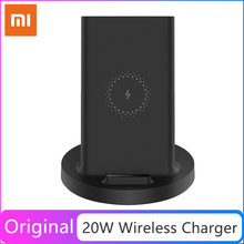 Xiaomi 20W Max Vertical Wireless Charger Flash Charging Qi Compatible Stand Holder Horizontal for Xiaomi Mi 9 MIX 2S Smartphone
