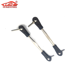 Steering Pull Rod Set with Ball Joint for 1/5 RC CAR HPI ROFUN BAHA ROVAN BAJA KM 5B 5T SC TRUCK PARTS