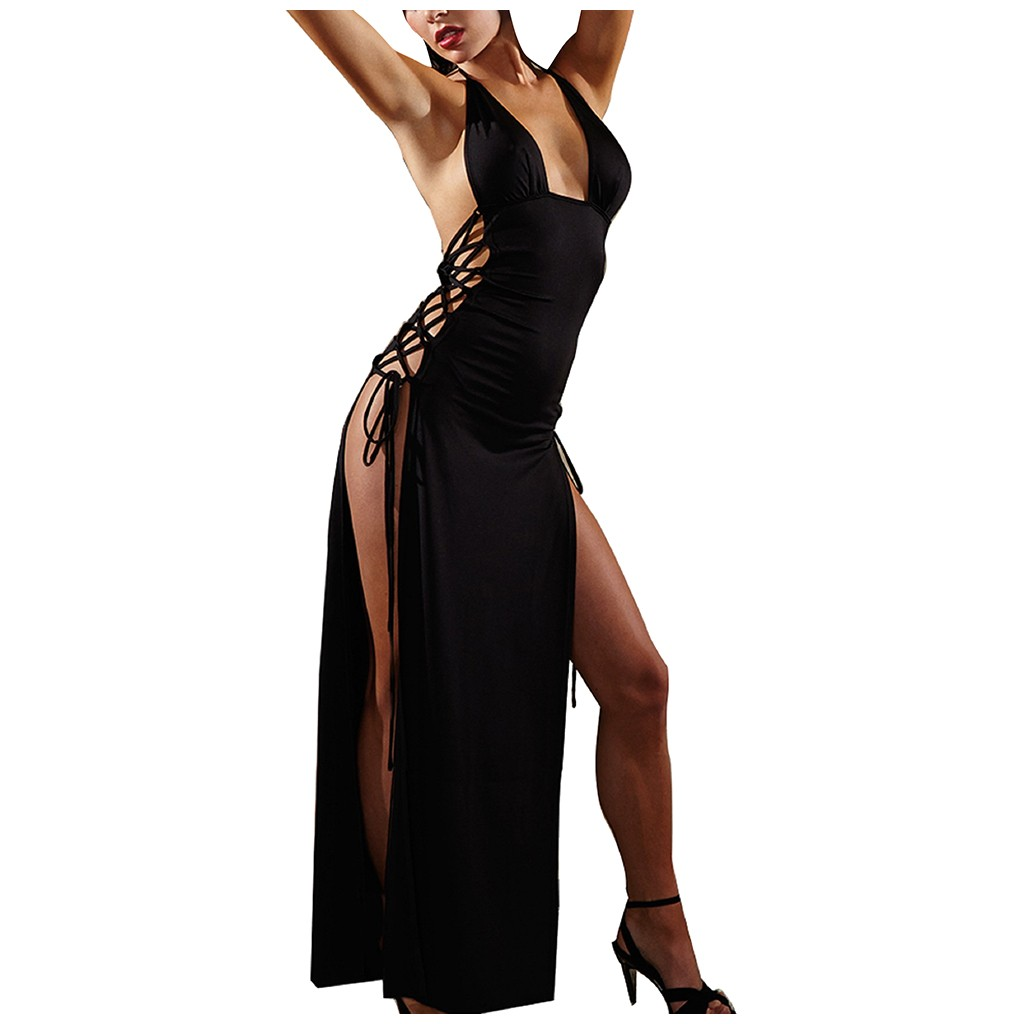 Women Sexy Lingerie <font><b>Hot</b></font> Erotic <font><b>Sex</b></font> Clothes Bandage Porno Clubwear Female Backless Sexy Underwear Costumes Sexy Sleep <font><b>Dress</b></font> image