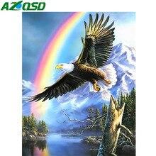 AZQSD Diamond Painting Eagle Cross Stitch Embroidery Animal Wall Art Home Decoration Picture Of Rhinestones Gift Needlework
