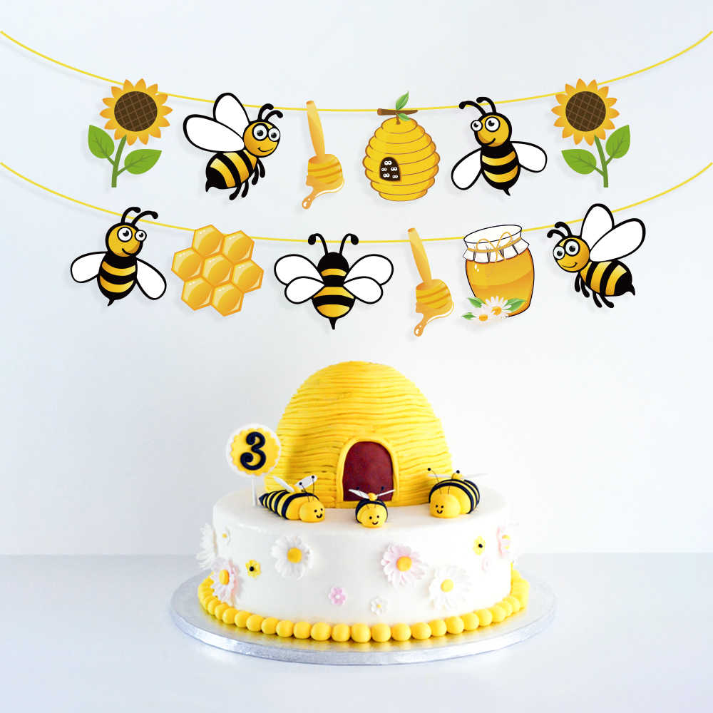 Bee ITS A BOY Banner Bee Theme Baby Shower Party Supplies